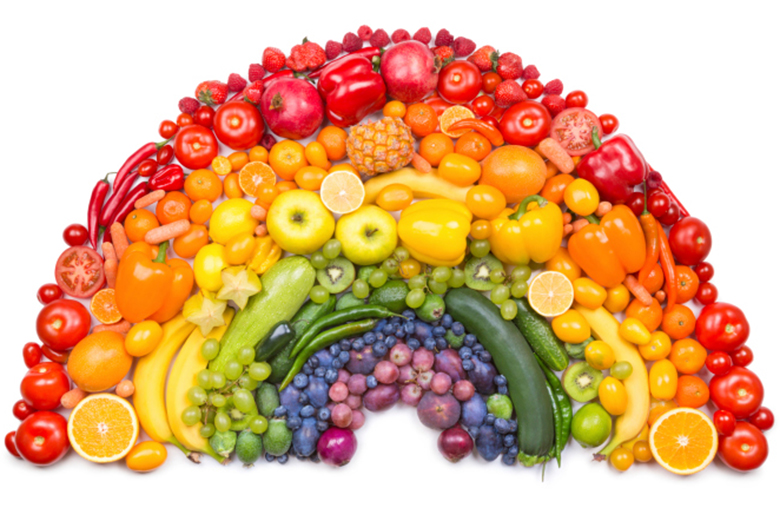 Image result for rainbow fruits and vegetables